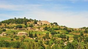 Sanfte Hügellandschaft in Südfrankreich