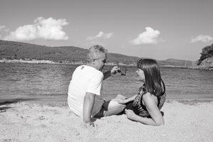 Marina und Grigorios Theocharis leben seit mehr als 20 Jahren auf der Halbinsel Chalkidiki