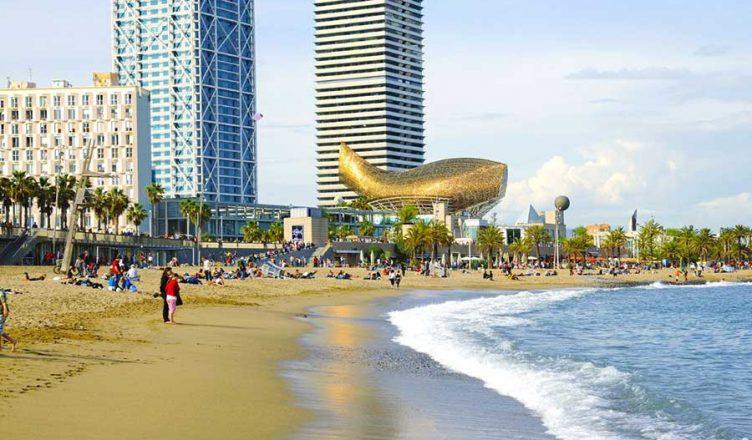 Der Stadtstrand von Barcelona