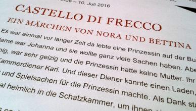 Ein Märchen über das Castello di Frecco.
