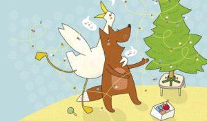 """Bildergeschichte """"Horst und Helga: Das Geschenk"""" © Gecko Kinderzeitschrift – Rathje & Elbel GbR, Text: Charlotte Habersack, Illustration: Mascha Greune"""