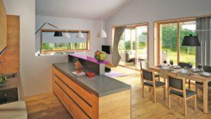 Die Häuser im Gud Jard sind modern und mit natürlichen Materialien gestaltet.