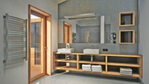 Ein modernes Bad im Gud Jard Resort auf Pellworm.