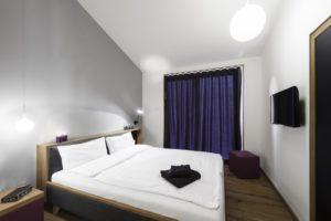 Schlafzimmer im Ferienhaus im Resort Gud Jard auf Pellworm.
