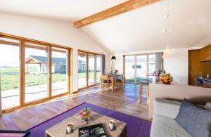 Die Räume sind ausschließlich mit Naturmaterialien gestaltet.