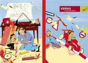 Platz 3 beim vamos Illustratoren-Wettbewerb 2019: Illustration von Laura D'Arcangelo, Hochschule Luzern - Design & Kunst
