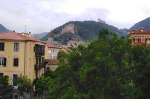 Aussicht aus dem Hotel Florenz in Finale Ligure.